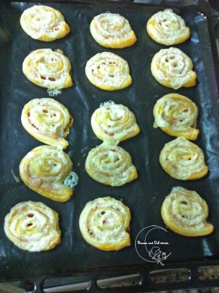 espirales jamón y queso