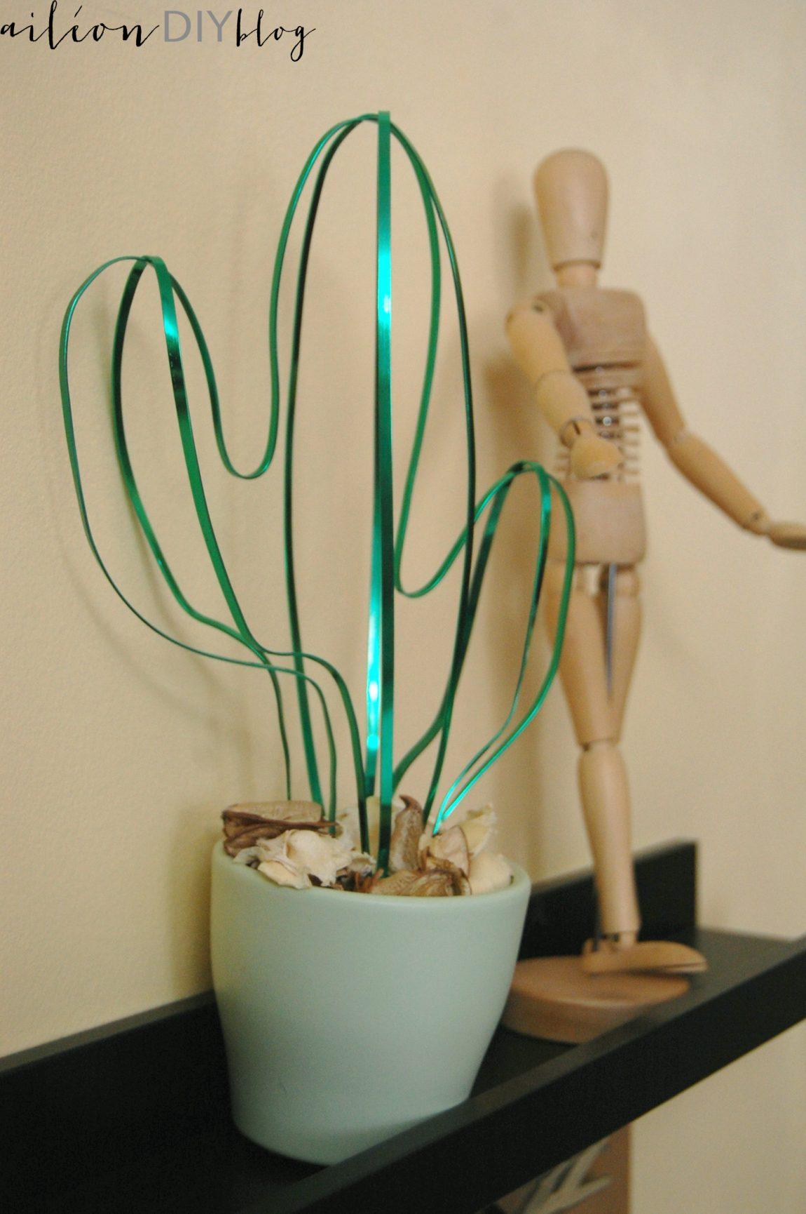 cactus alambre DIY