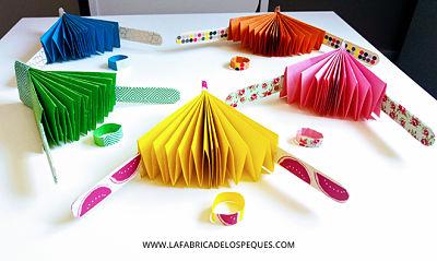 abanicos de papel