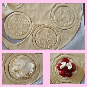tartaletas de cerezas y queso