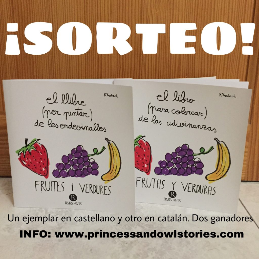 sorteo libro para colorear de adivinanzas de frutas y verduras
