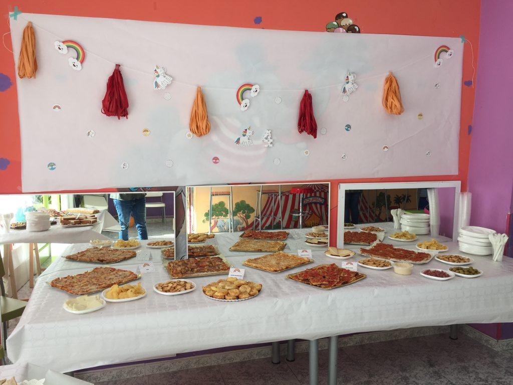 decoración fiesta unicornios y arco iris