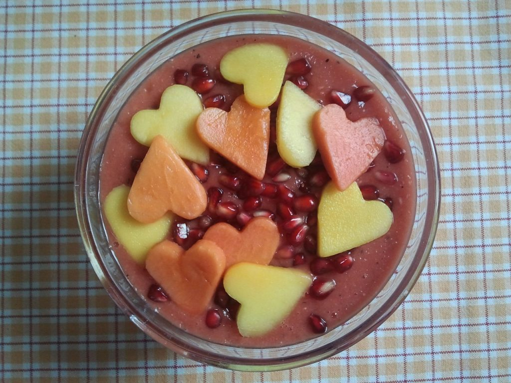 smoothie decorado