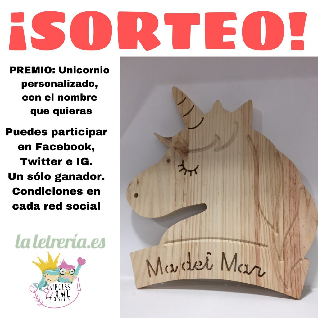 sorteo unicornio madera