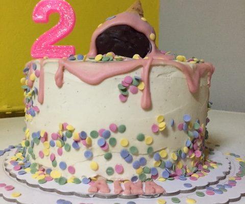 tarta fiesta temática helados