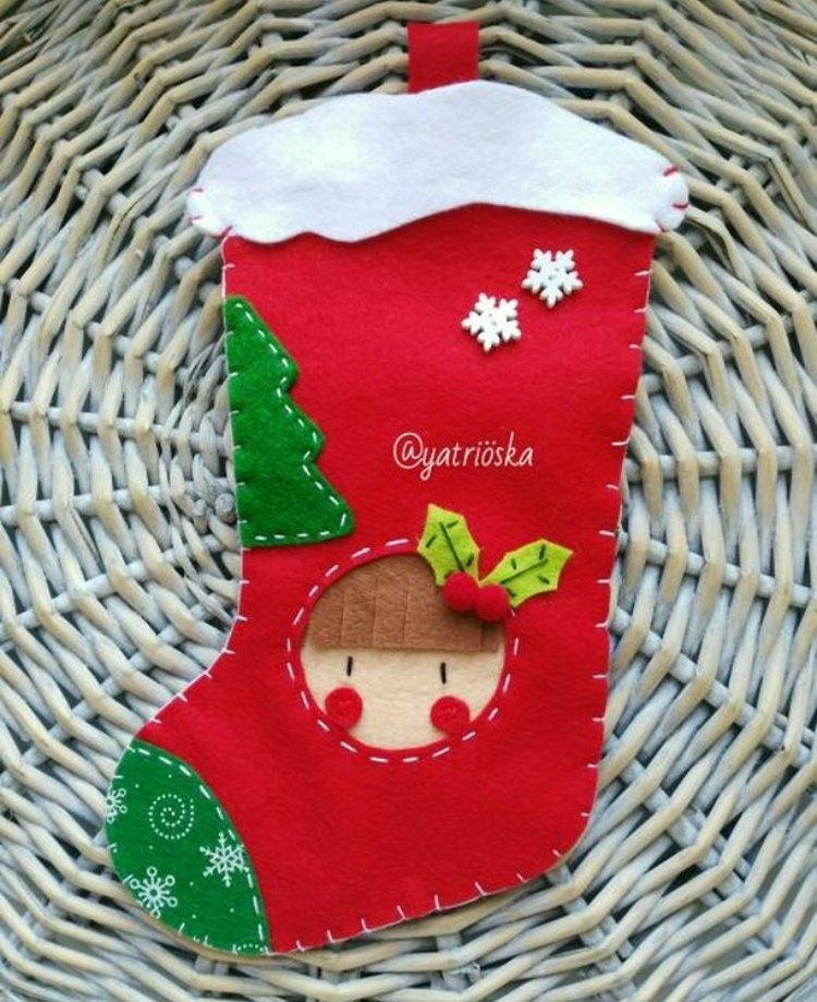 calcetín navideño