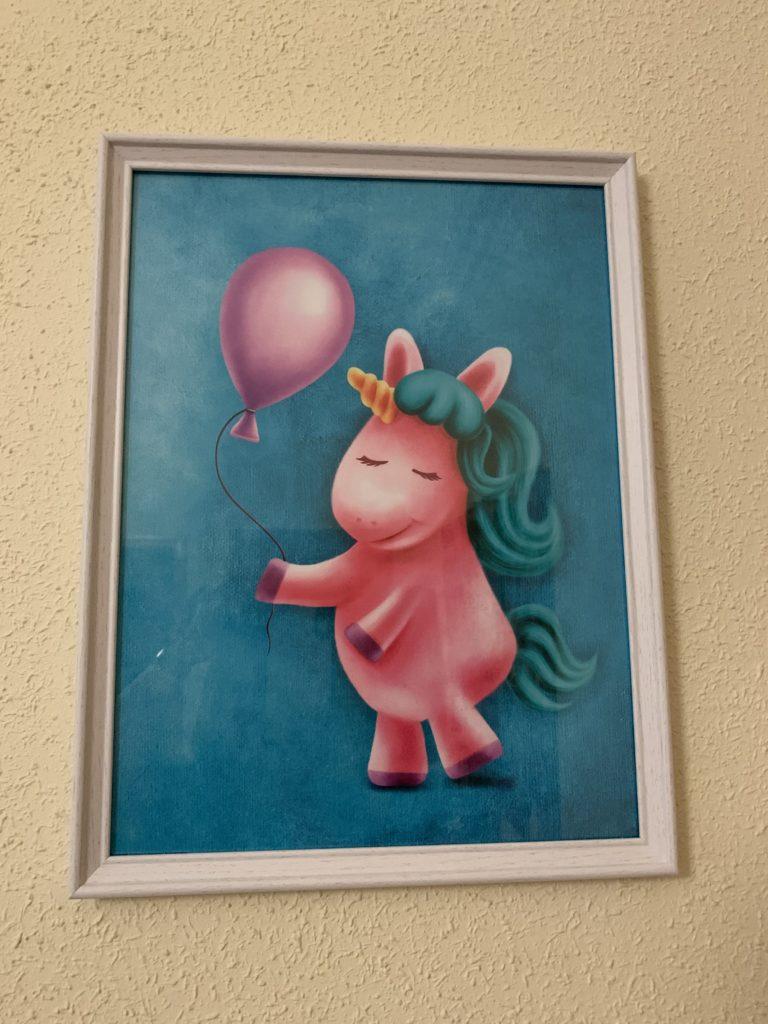 Cuadro unicornio globo