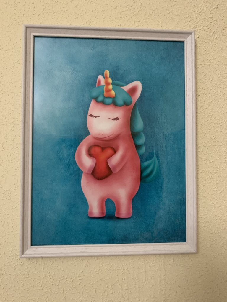Cuadro unicornio corazón